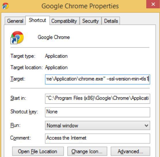 Disabling SSLv3.0 in Chrome