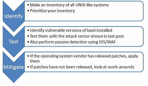 Steps to identify, test and mitigate vulnerable systems
