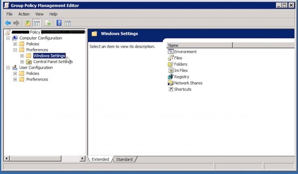 Figure 9: GPP Windows settings